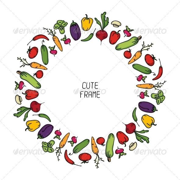GraphicRiver Frame of Vegetables 8324501