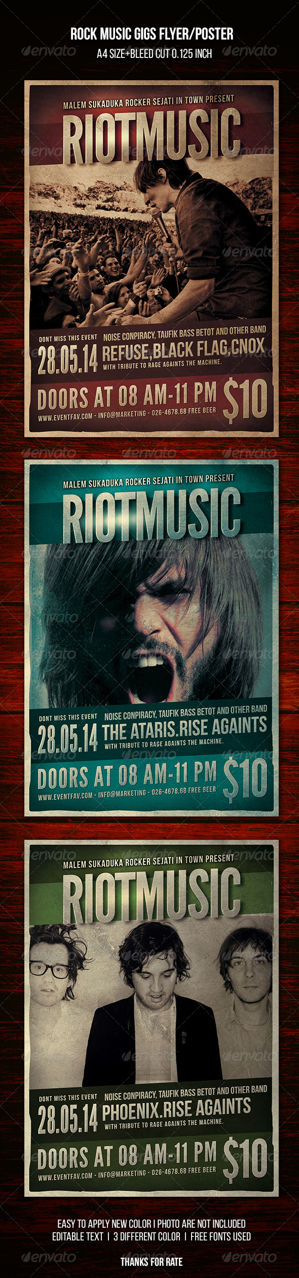 GraphicRiver Rock Indie Music Flyer Poster 8324503