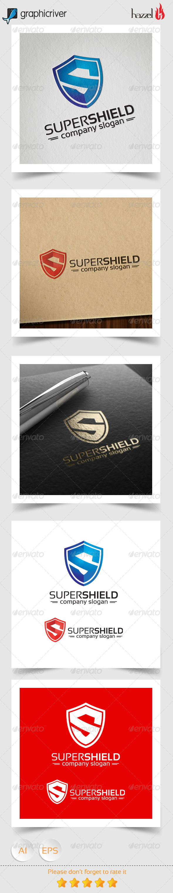 GraphicRiver Super Shield Logo 8324504