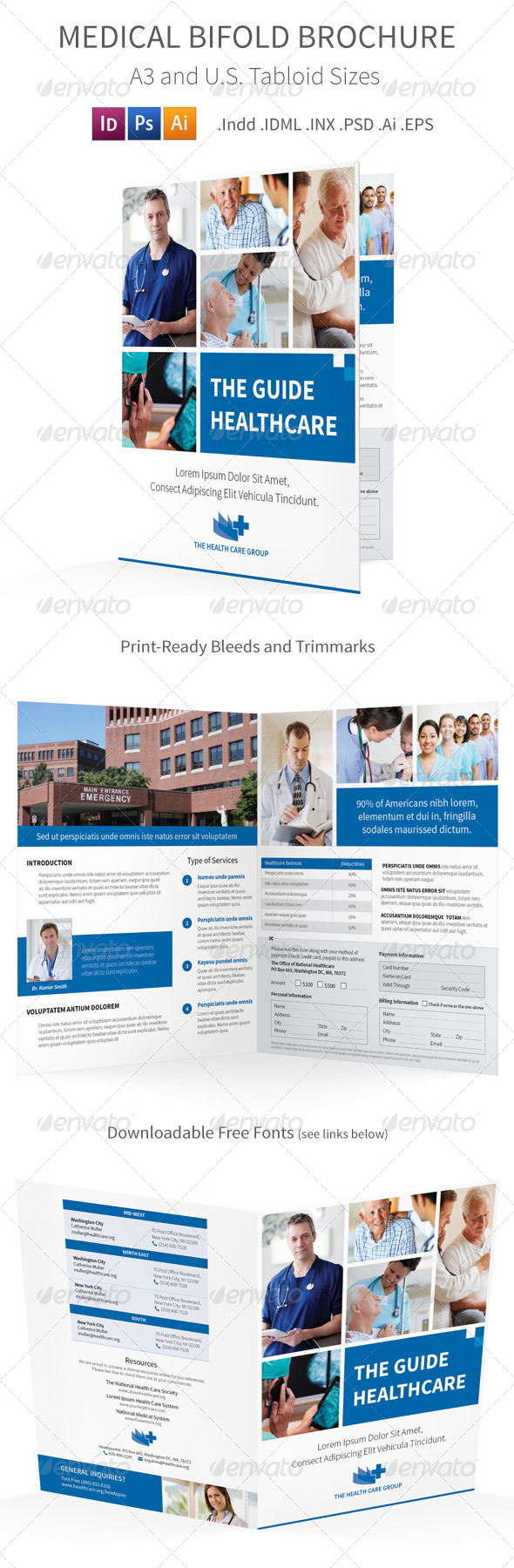 Medical Bifold Halffold Brochure - Informational Brochures