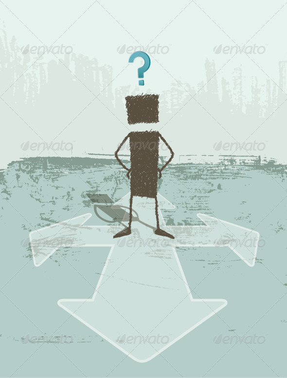 GraphicRiver Business Concept of Doubt 8324618