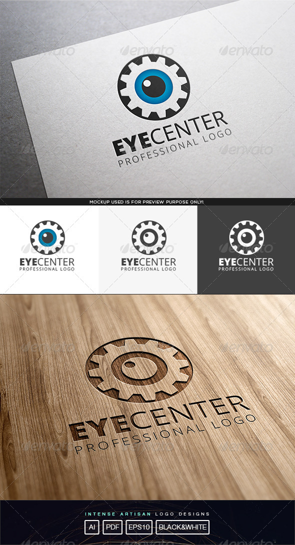 GraphicRiver Eye Center Logo Template 8324696