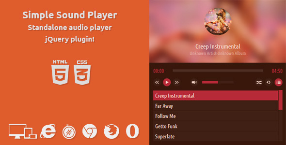 CodeCanyon Simple Standalone Player HTML5 with XML 8324702