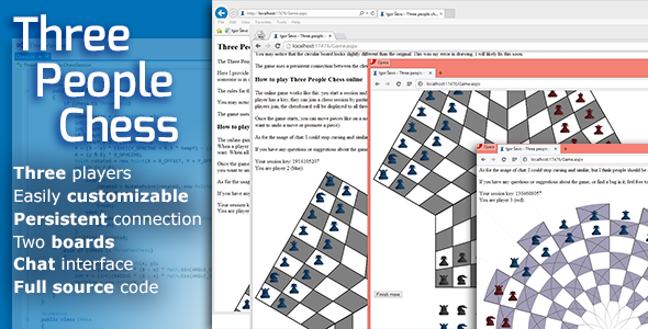 CodeCanyon Three People Chess 8324783