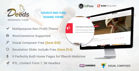 ThemeForest Deeds- Best Nonprofit Church Organization WP Theme 8009897
