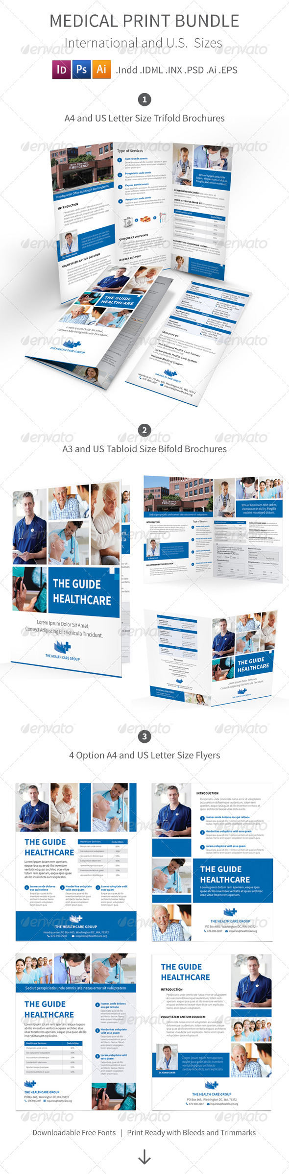 GraphicRiver Medical Print Bundle 8324787
