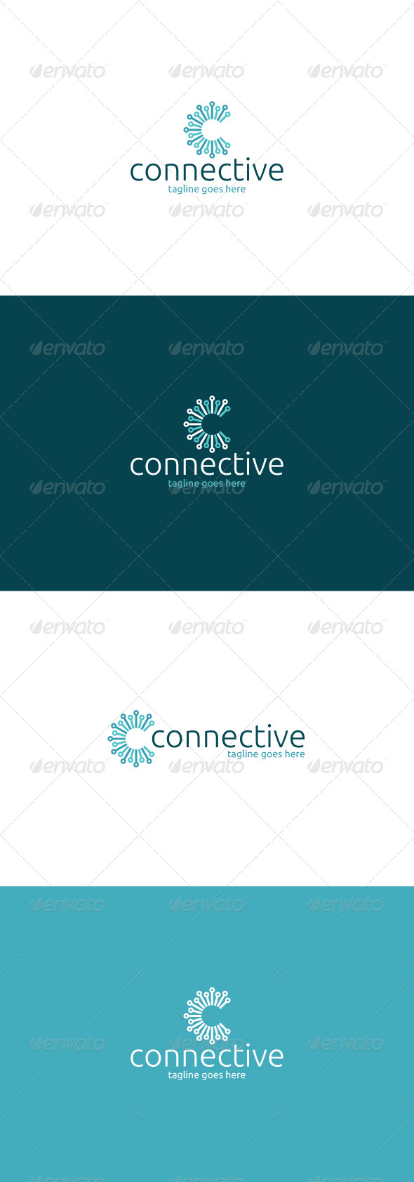 GraphicRiver Connective Logo Letter C 8324788