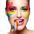 Fantasy Makeup. Painted Face. Lollipop - PhotoDune Item for Sale