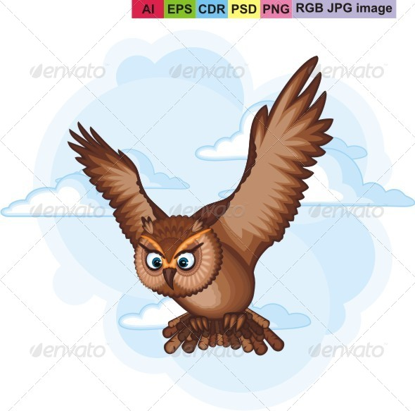 GraphicRiver Brown Owl 8325044