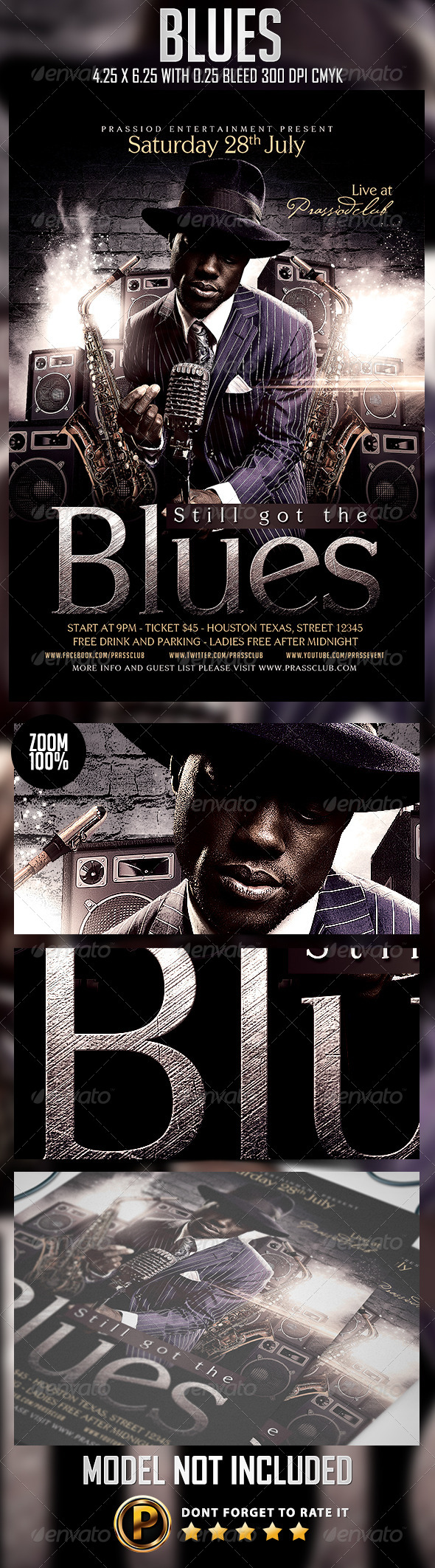GraphicRiver Blues Flyer Template 8325084