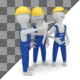 Construction Workers Discussing Project - GraphicRiver Item for Sale