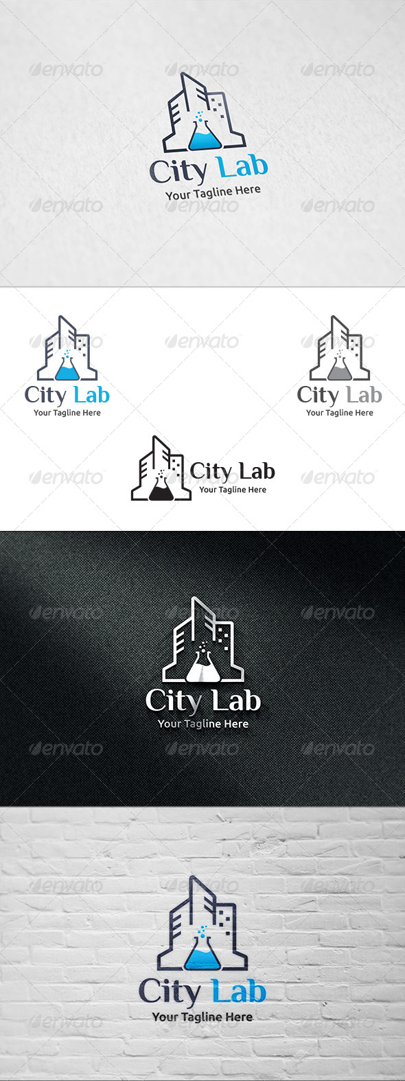 GraphicRiver City Lab Logo Template 8325186