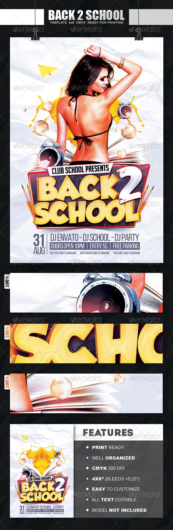 GraphicRiver Back To School Flyer 8325191