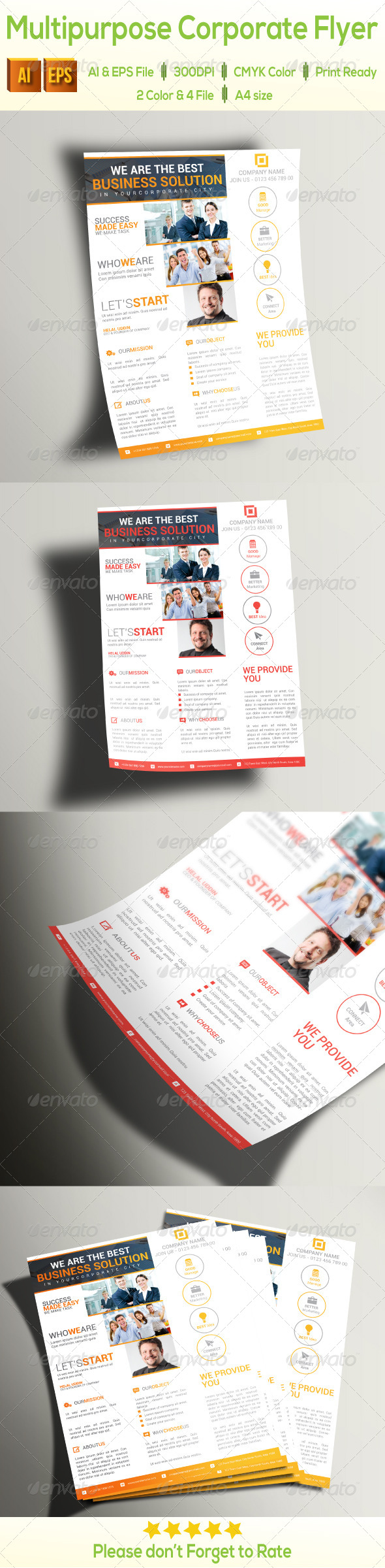 GraphicRiver Multipurpose Corporate Flyer 8325194