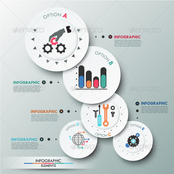 GraphicRiver Modern Infographics Options Banner With Circles 8325217