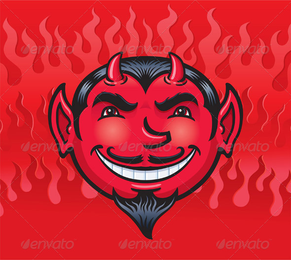GraphicRiver Smiling Devil Face 8325226