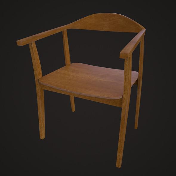 3DOcean IKEA Stockholm Chair Oak 8286423