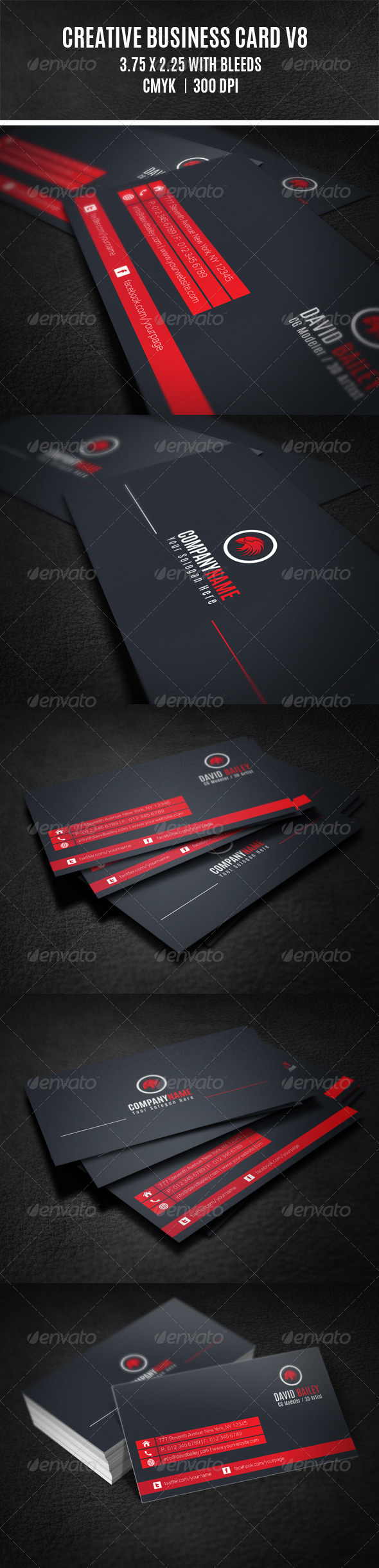 GraphicRiver Creative Business Card V8 8325282