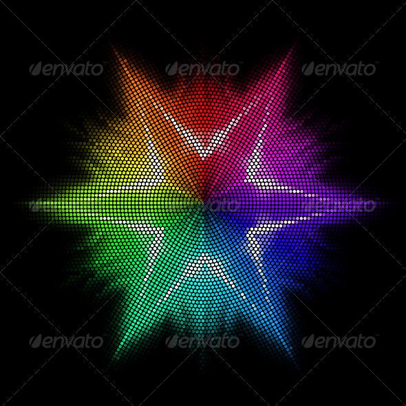 GraphicRiver Multicolored Mosaic Star 8325349