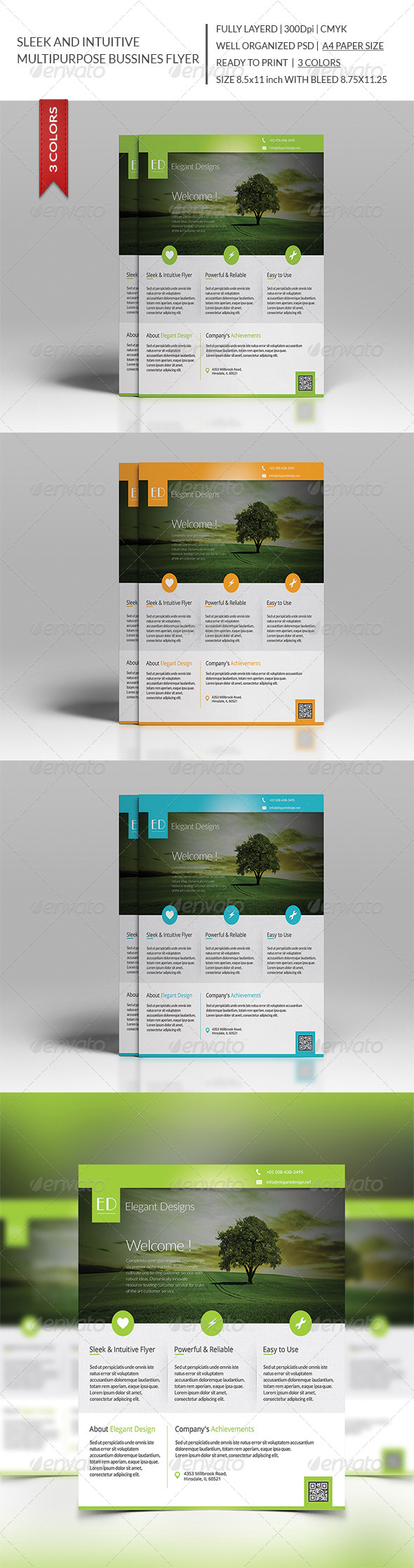 GraphicRiver Sleek and Intuitive Multipurpose Business Flyer 8325356