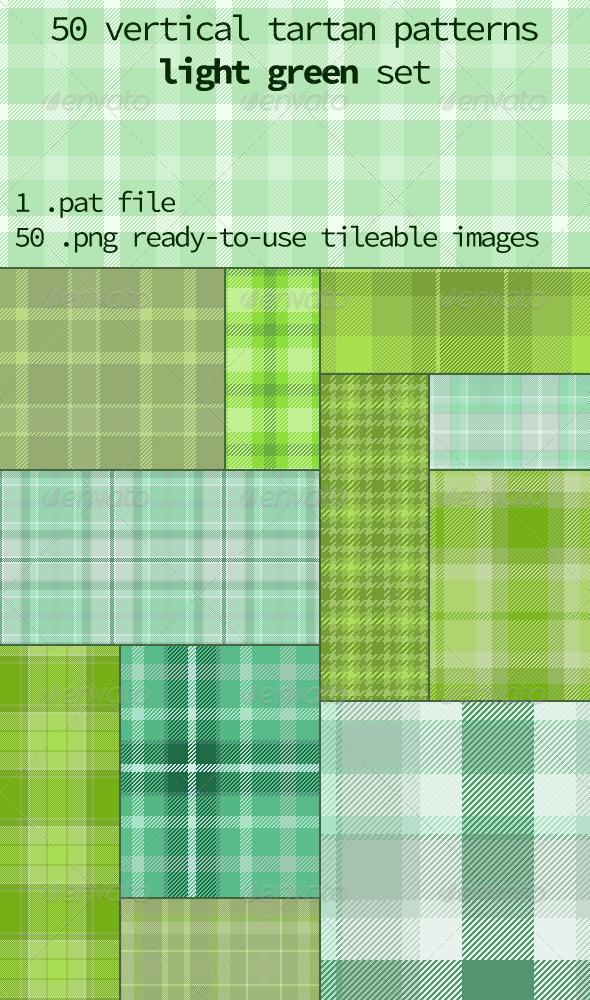 GraphicRiver Tartan Pattern Set Vertical Light Green 8312925