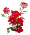 Red rose flower bouquet isolated on white background cutout - PhotoDune Item for Sale