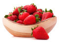 Strawberries in wooden bowl cutout - PhotoDune Item for Sale