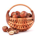 Hazelnuts in wicker basket - PhotoDune Item for Sale