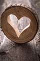 Light  heart on rustic wooden background - PhotoDune Item for Sale