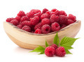 raspberries in wooden bowl - PhotoDune Item for Sale