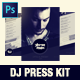 Dj and Musician Press Kit / Resume Template - GraphicRiver Item for Sale