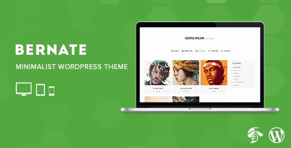 ThemeForest Bernate Personal WordPress Theme 8256305
