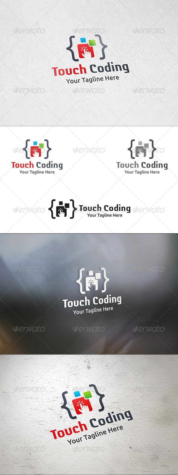 GraphicRiver Touch Coding Logo Template 8325534