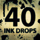 40 Ink Drops and Smudges Pre-Keyed Elements  - VideoHive Item for Sale