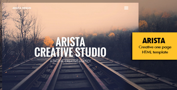 ThemeForest Arista Creative One Page Template 8214502