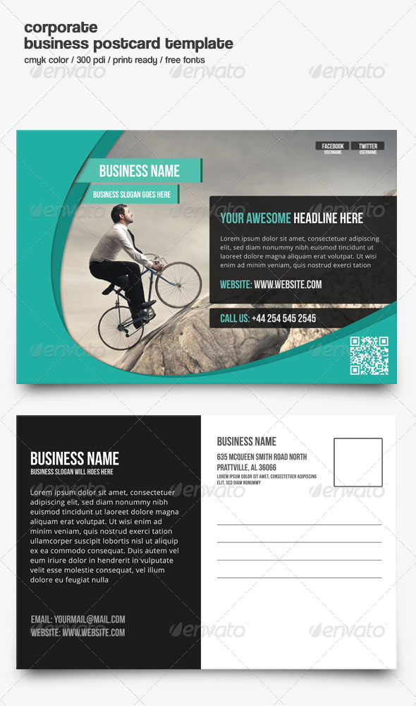 GraphicRiver Corporate Business Postcard 8314994
