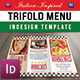 Italian Inspired Trifold Restaurant Menu - GraphicRiver Item for Sale
