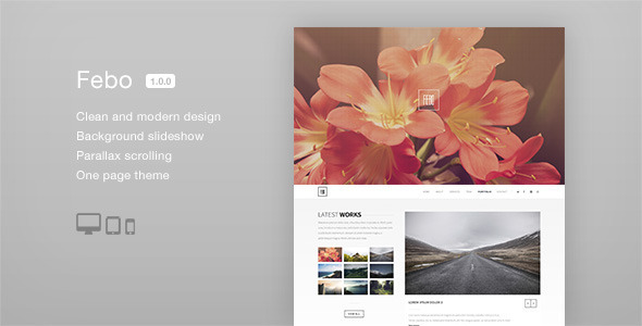 ThemeForest Febo One Page Muse Template 8325753