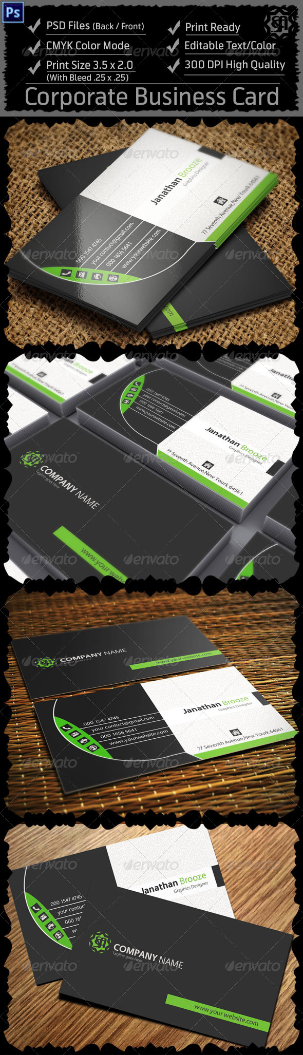 GraphicRiver Corporate Business Card 8325761