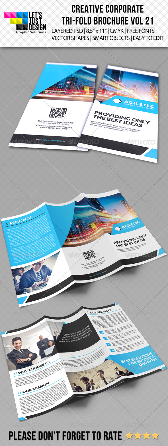 GraphicRiver Creative Corporate Tri-Fold Brochure Vol 21 8325766