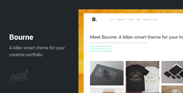 ThemeForest Bourne Portfolio WordPress Theme 8325778