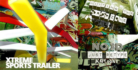 AE模板:创意街头涂鸦企业宣传片介绍电视栏目包装宣传介绍模版Xtreme Sports Graffiti Trailer免费下载