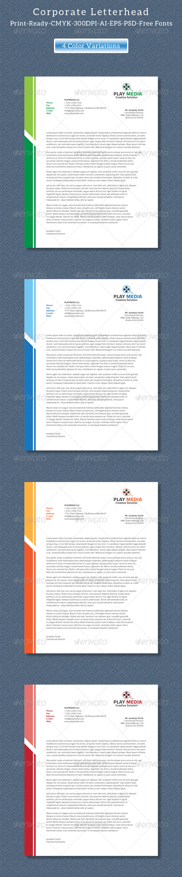 GraphicRiver Corporate Letterhead Vol.2 8325970