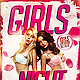 Girls Night Party Flyer PSD - GraphicRiver Item for Sale