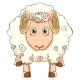 Illustration Cartoon Sheep - GraphicRiver Item for Sale