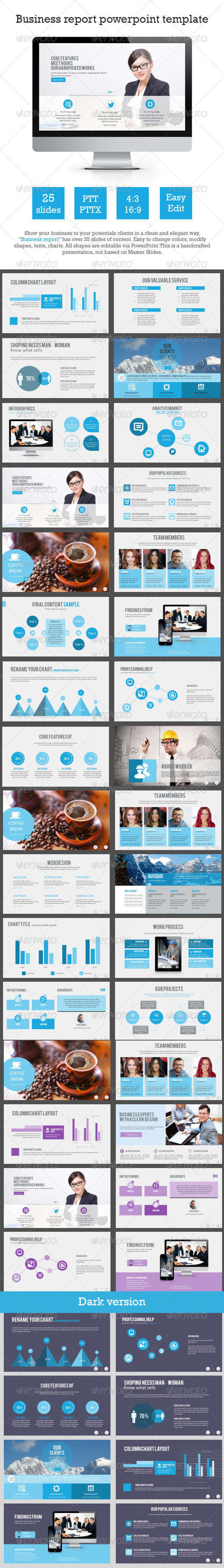 GraphicRiver Business Report Powerpoint Template 8321476