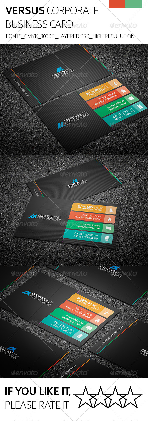GraphicRiver Versus & Corporate Business Card 8326321