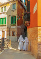 Two Nuns on the street in Venice in Italy - PhotoDune Item for Sale