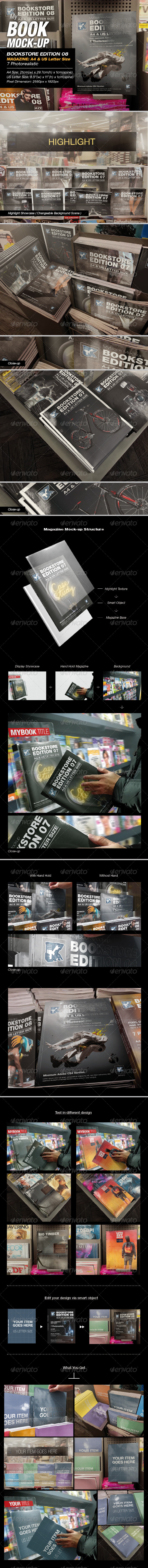 GraphicRiver MyBook Mock-up Bookstore Edition 08 8326463