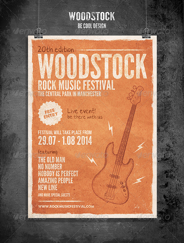 GraphicRiver Rock Festival Flyer Poster 8314010